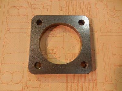Exhaust Flange - Square - Touring Cars