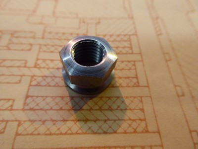 13mm Hex Steel Plain Nut - 9mm x 1.25 Pitch
