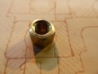 10mm Hex Brass Plain Exhaust Nut - 7mm x 1.00 Pitch