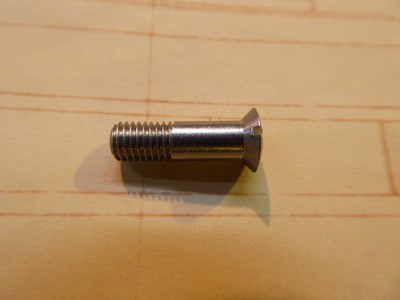 Riased Head Slotted Screw Countersunk 5mm - Steel - 5x0.75x18