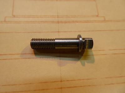 Square Head Bolt 5mm - Steel - 5x0.75x20