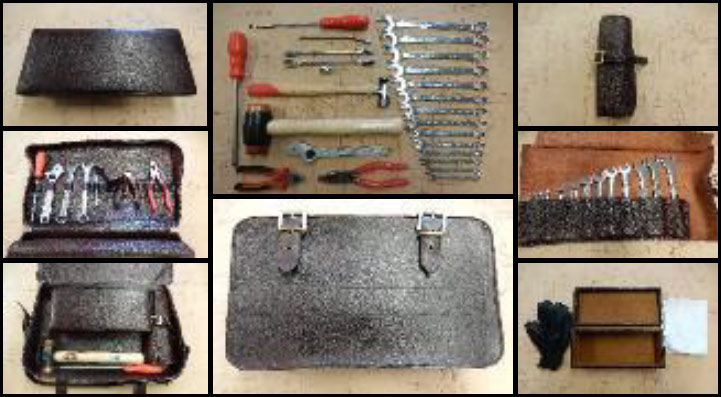 Tool Kit in Leather Bag