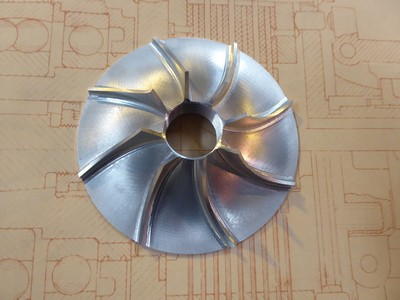 Water Pump Impeller - Large LH Spiral - T57