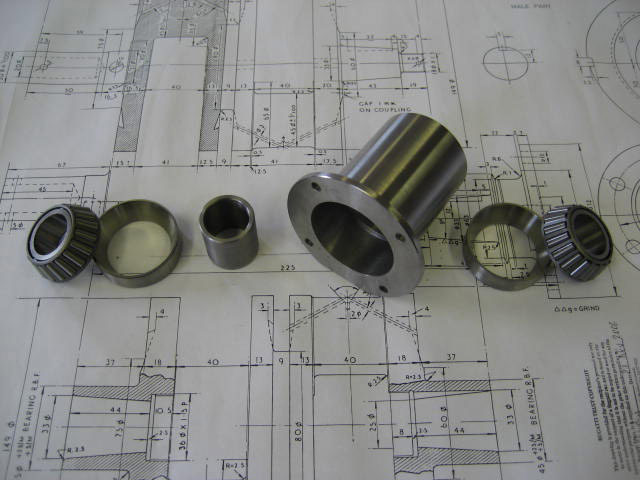 Gearbox Taper Bearing Conversion Kit (includes bearings) - GP Cars