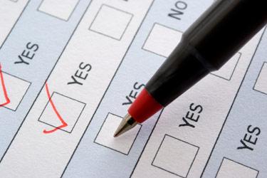 Storage checklist